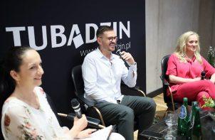 Dorota Koziara i Maciej Zień na spotkaniu Ceramiki Tubądzin