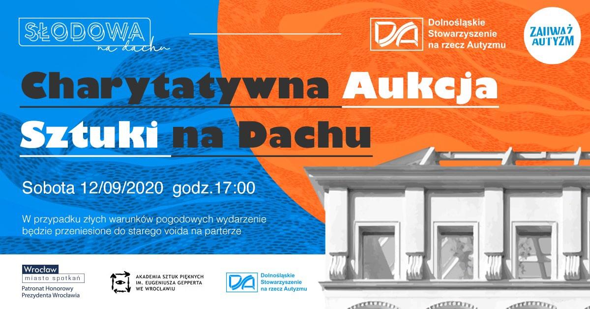 Charytatywna Aukcja Sztuki na Dachu 2020 plakat