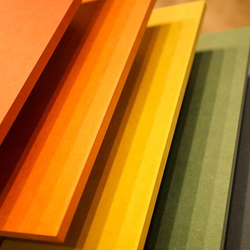 kolorowe wzorniki drewna