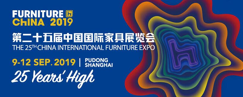 plakat logo Furniture China 2019