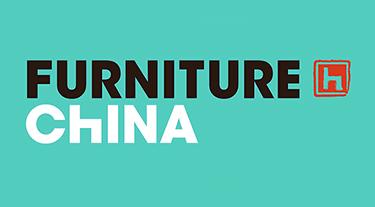 logo Furniture China na zielonym tle
