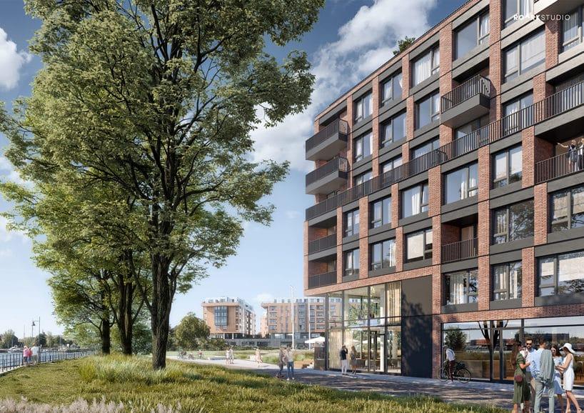 nowoczesny apartamentowiec Chlebova wGdańsku zzewnątrz