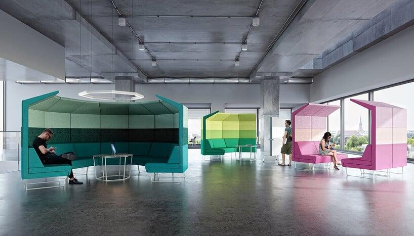 kolorowe ścianki akutsyczne wbiurze