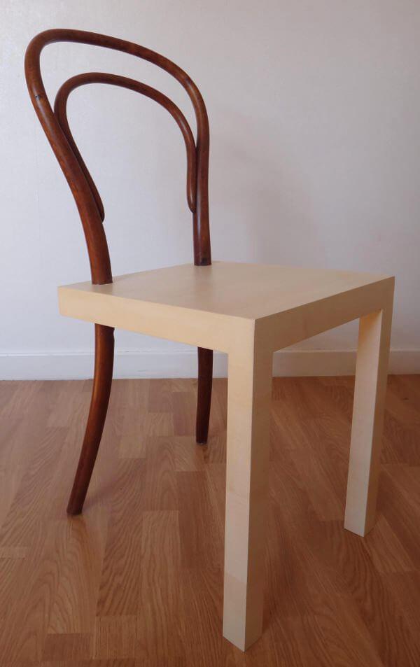 połączenie starego krzesła znowym