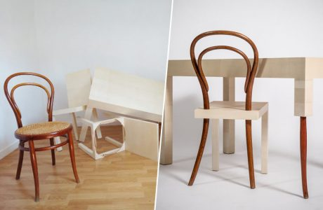 dekonstrukcja krzesła numer 14 thonet