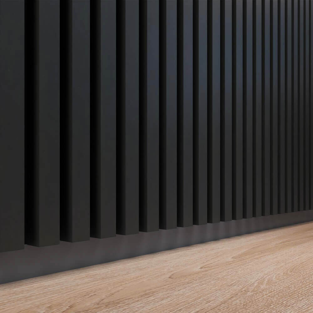 Dekoracja ściany wsalonie isypialni? Lamele ścienne