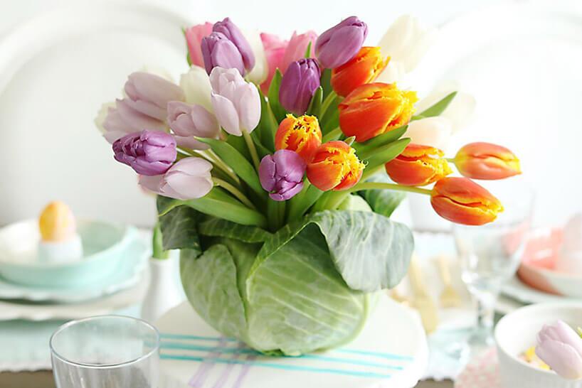 kwiaty cięte wwazonie zkapusty