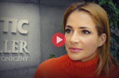 Anna Dereszowksa podczas wywiadu dla MAGAZIF