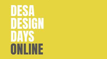 żółty plakat Desa Design Days 2020