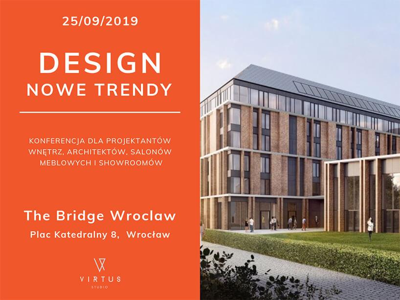 zaproszenie na konferencję Design - Nowe trendy warchitekturze wnętrz 2019