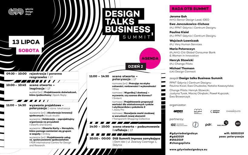 Design Talks Business Summit na Gdynia Design Days 2019 program 2