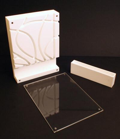 pudełko ze szklaną taflą