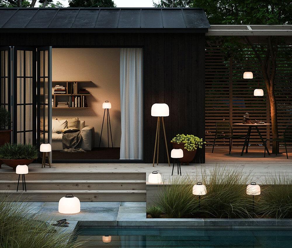 Długie letnie noce: oświetlenie ogrodowe ina taras