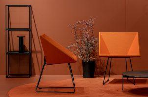 nowoczesne pomarańczowe krzesło RM57 od
