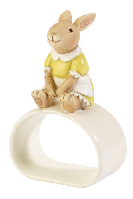 opaska do serwetek zfigurką siedzącego królika