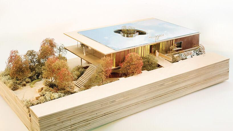 makieta drewnianego domu widok izemetryczny