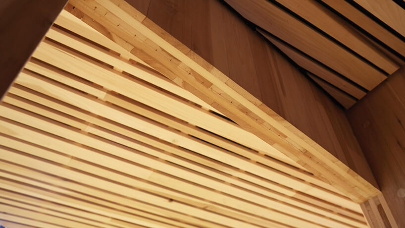 drewniany strop domu