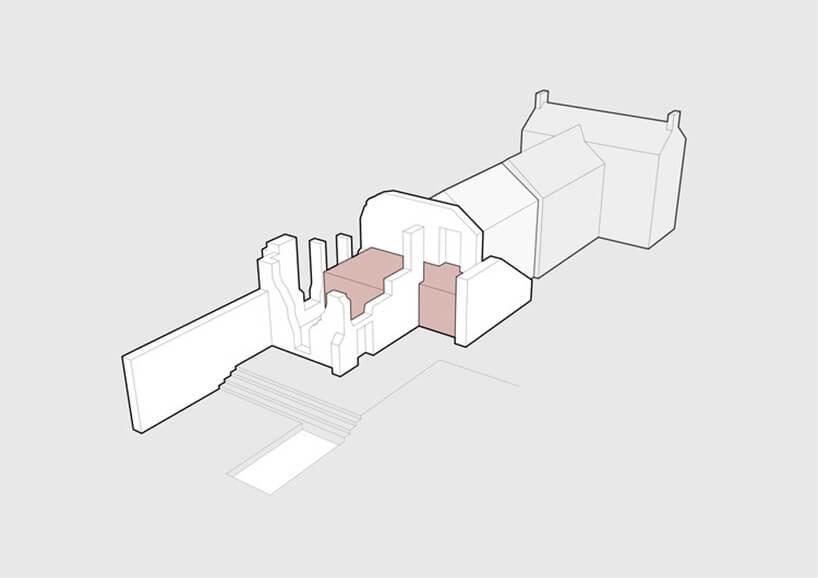 dom między ścianami murowanymi - projekt Will Gamble