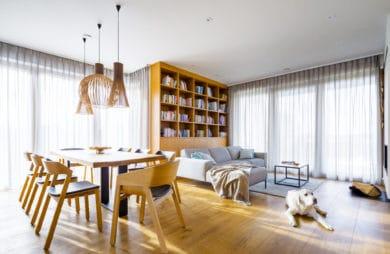 Słoneczna przestrzeń z kojącym widokiem: dom pod Łodzią