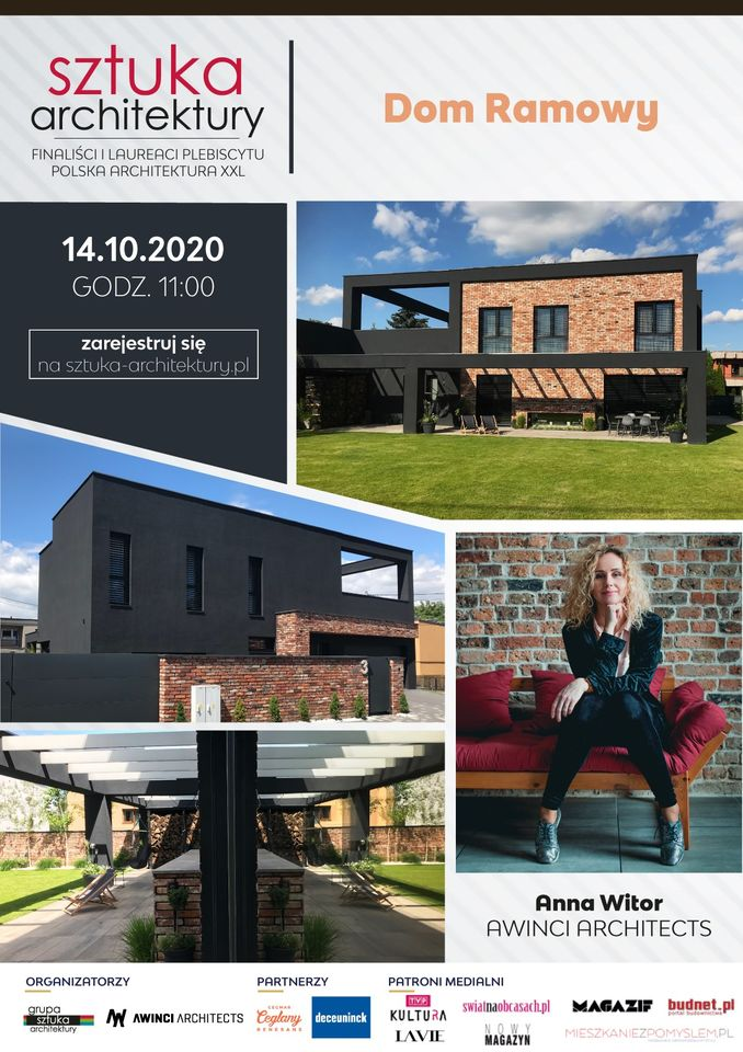 dom ramowy awinci architects plakat webinaru sztuka architektury