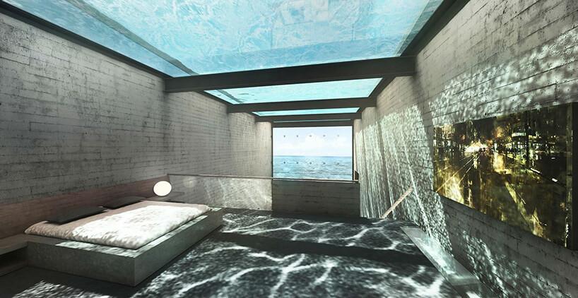 sypialnia pod basenem