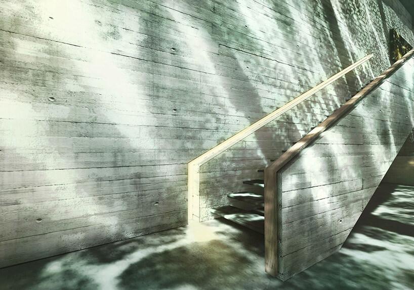 betonowe schody na piętro