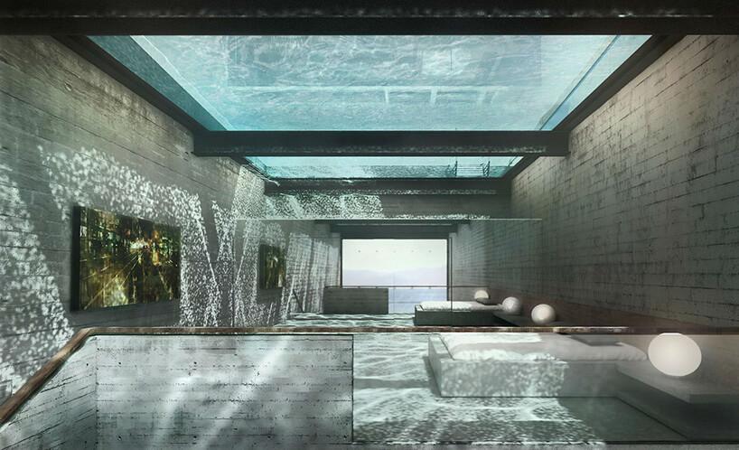 basen ze szkła wsuficie