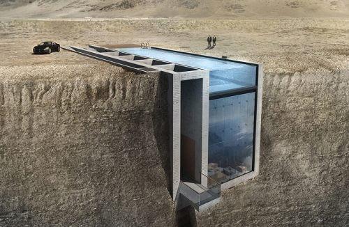 koncepcja domu w skarpie