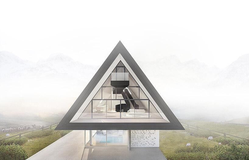 wizualizacja domu wgórach BXBstudio