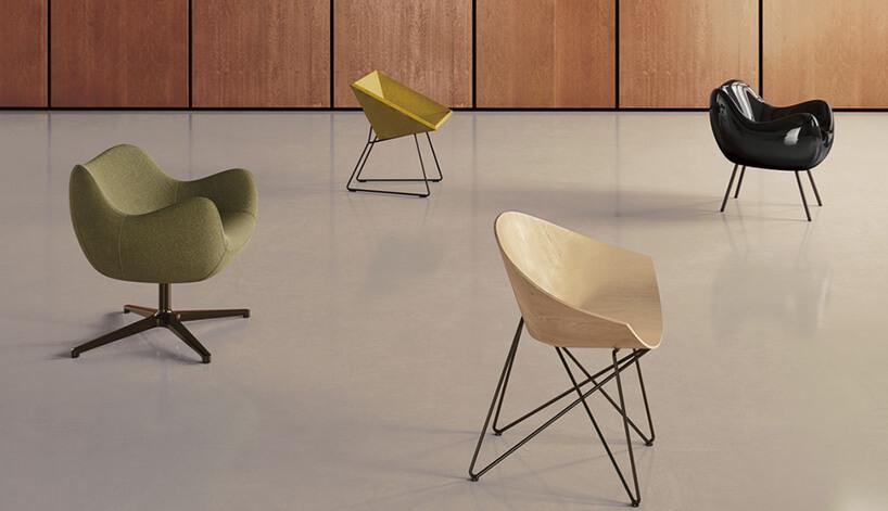 cztery różne modele foteli
