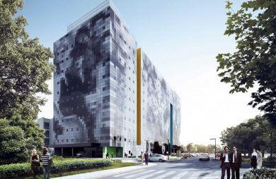 projekt hotelu doubletree by hilton w Łodzi