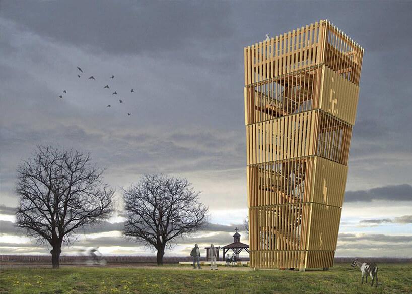 projekt wieży obserwacyjnej