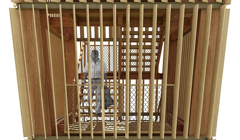projekt wieży obserwacyjnej wzbliżeniu