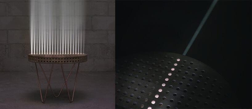 drewniany świecący stół