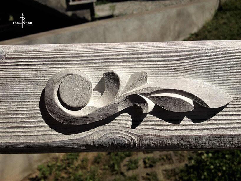 drewniane zdobienie