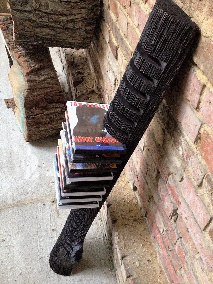 drewniany stojak na płyty