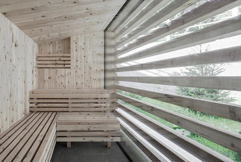 drewniana sauna walpejskim stylu