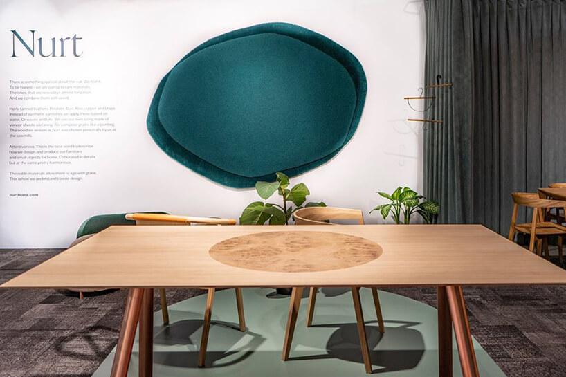 wyjątkowy drewniany stół Nurt