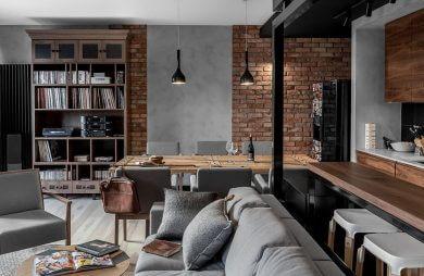 nowoczesno umeblowane mieszkanie