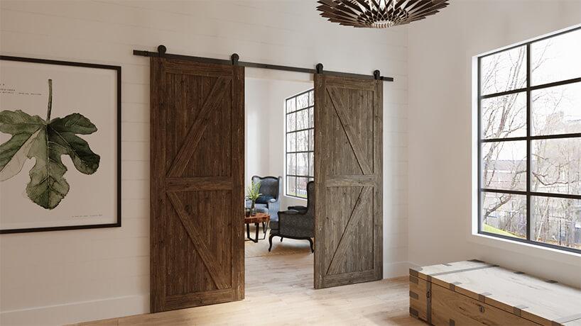 przesuwne drzwi od stodoły wnowym domu