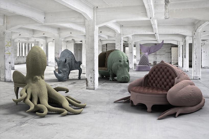 fotele wkształcie zwierząt wróżnych kolorach