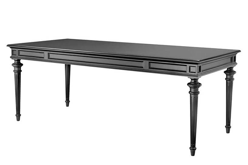 czarny eklektyczny stół