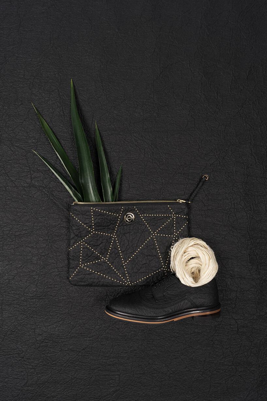 czarny but itorebka iwłókna ananasa