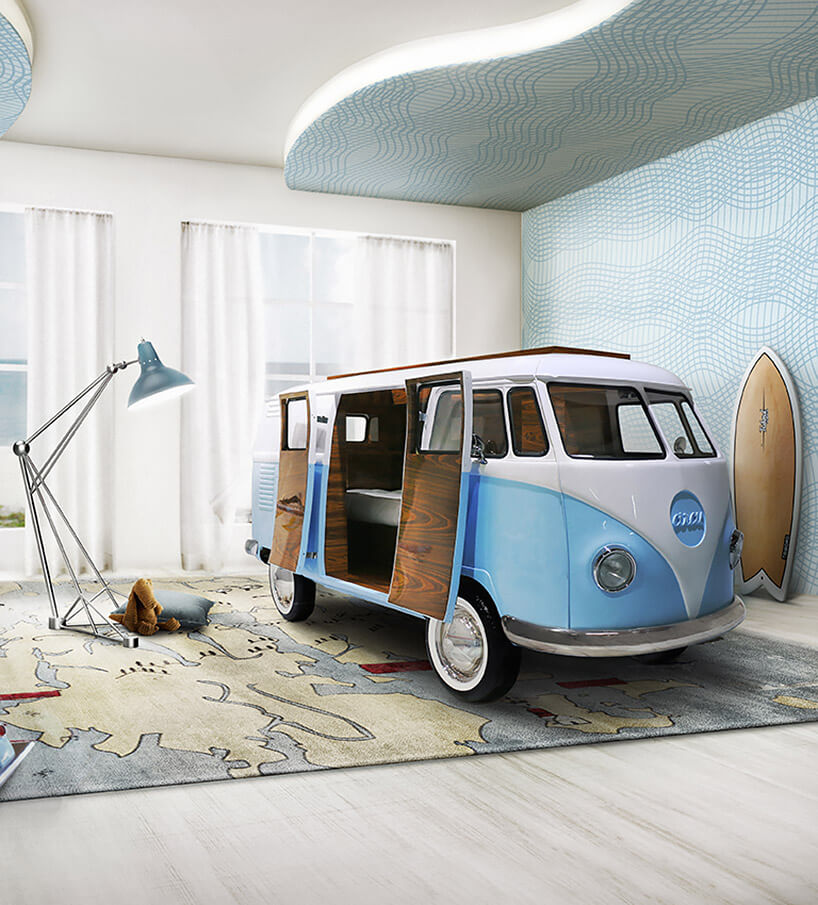 łóżko dla dziecka wmodelu samochodu