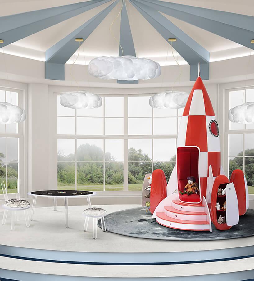 łóżko dla dziecka wformie rakiety waranżacji