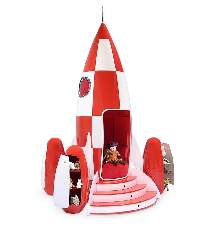 łóżko dla dziecka wformie rakiety