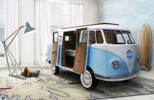 camper jako łóżko dla dzieci