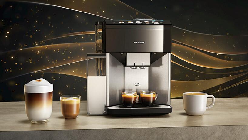 ekspres ciśnieniow do kawy Siemens serii EQ.500 na kamiennym blacie