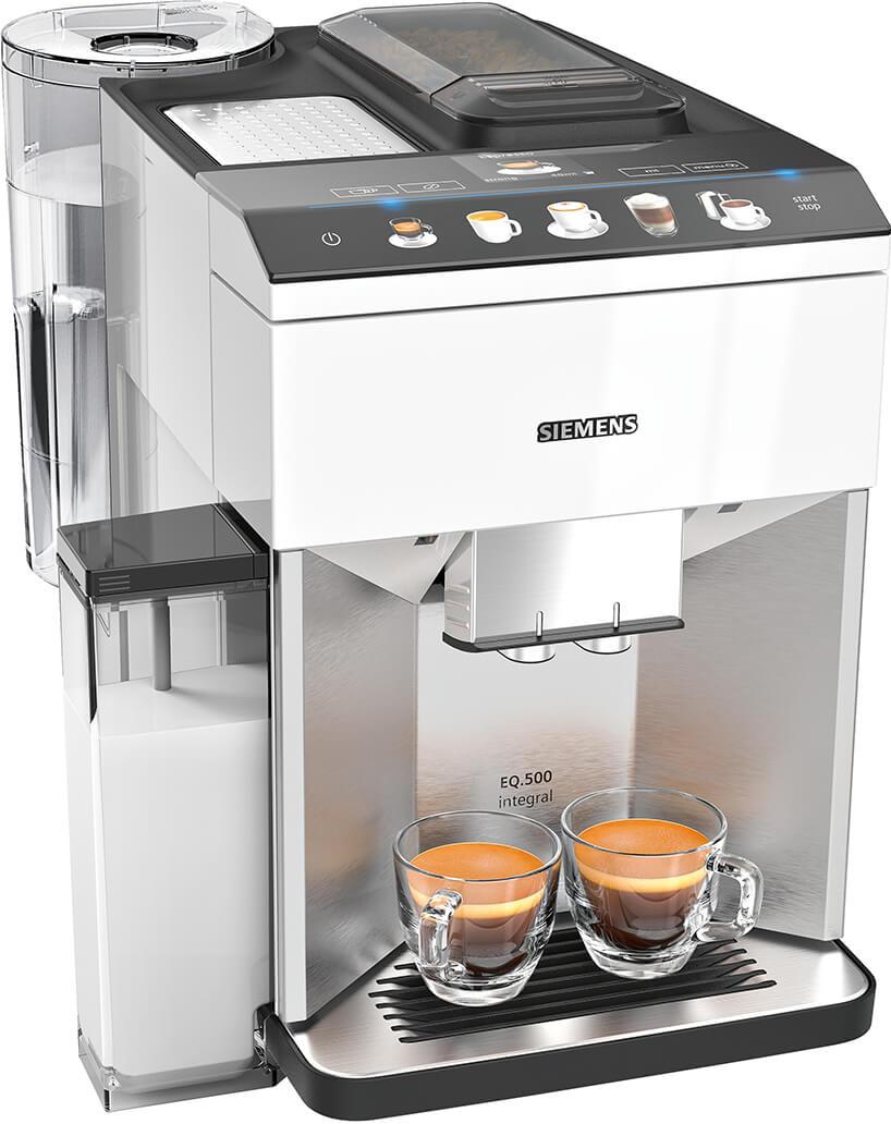 Biały eks[res do kawy Siemens