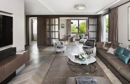 eleganckie wnętrze apartamentu projektu Rolanda Stańczyka